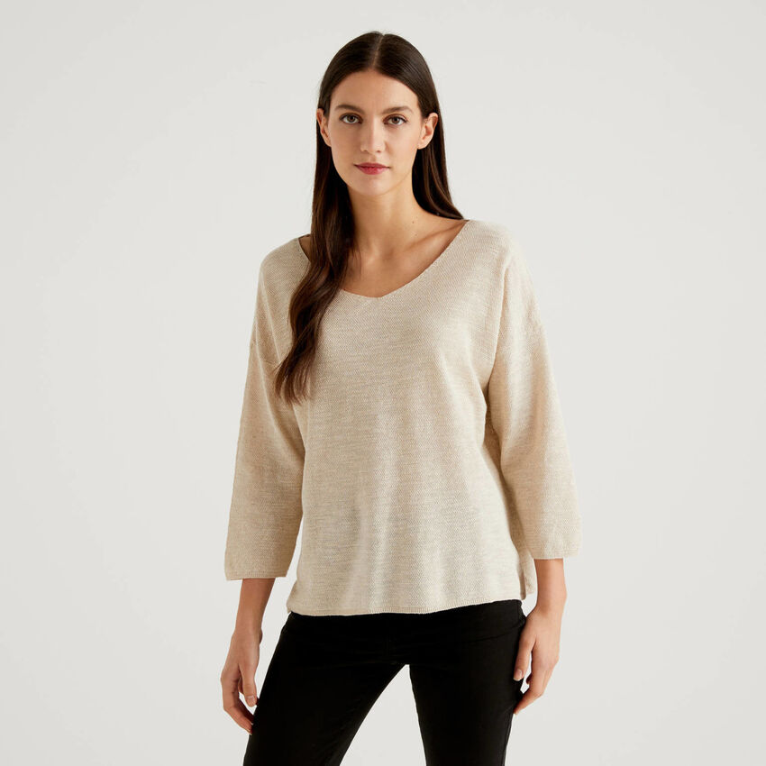 Pull avec manches 3/4