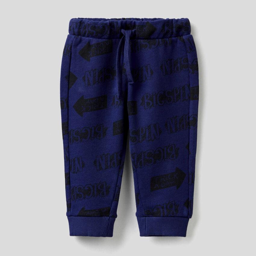 Pantalon en molleton de pur coton
