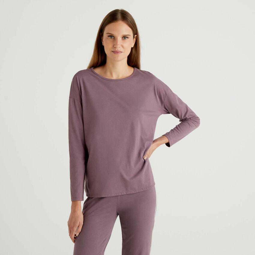 T-shirt à manches longues et bord siglé