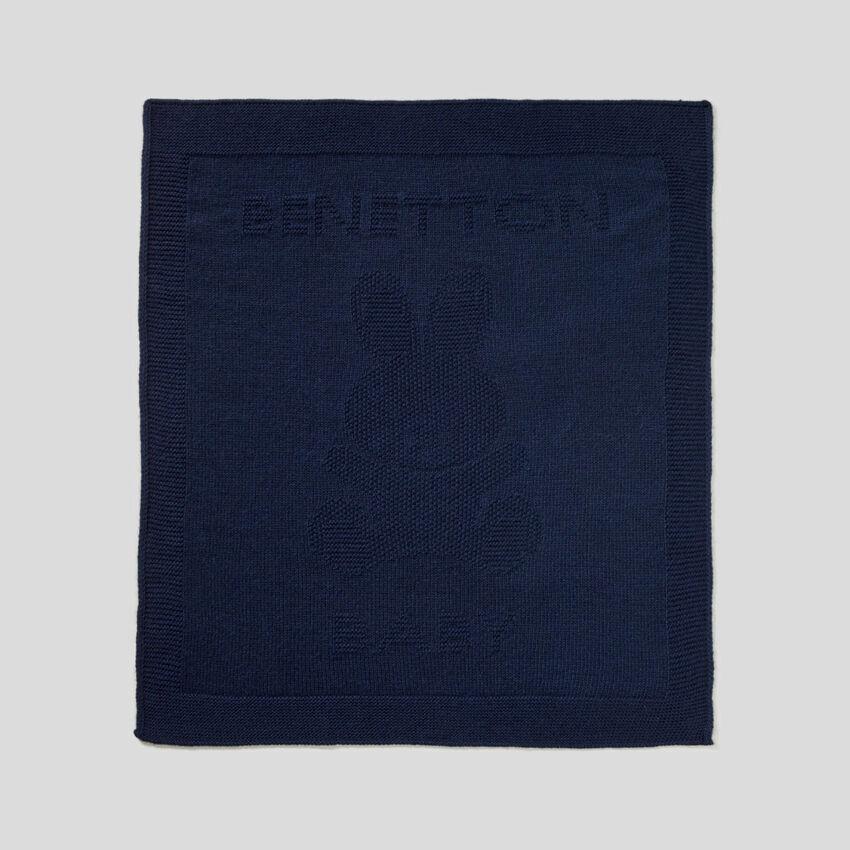 Couverture en laine mélangée