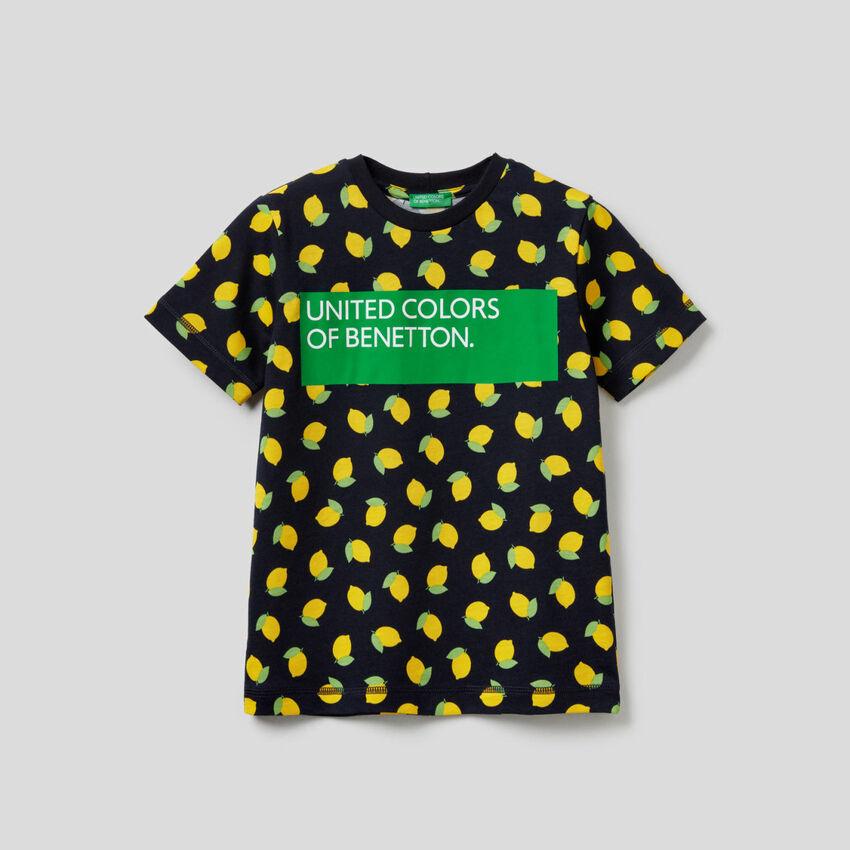 T-shirt imprimé en 100% coton