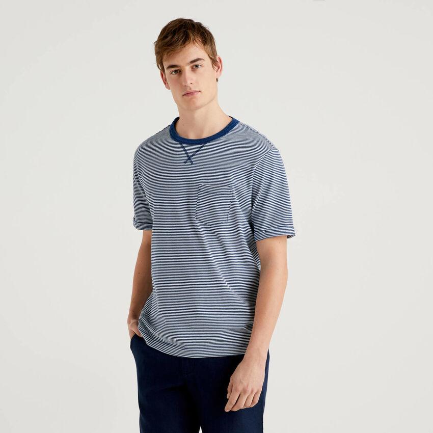 T-shirt 100% coton avec effet usé