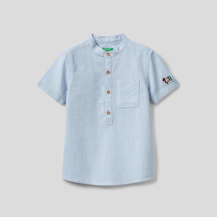 Chemise à manches courtes 100% coton