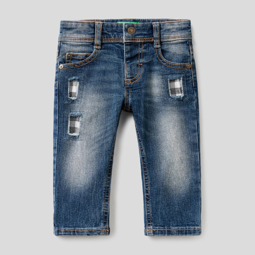 """Jeans """"Eco-Recycle"""" avec patchs"""