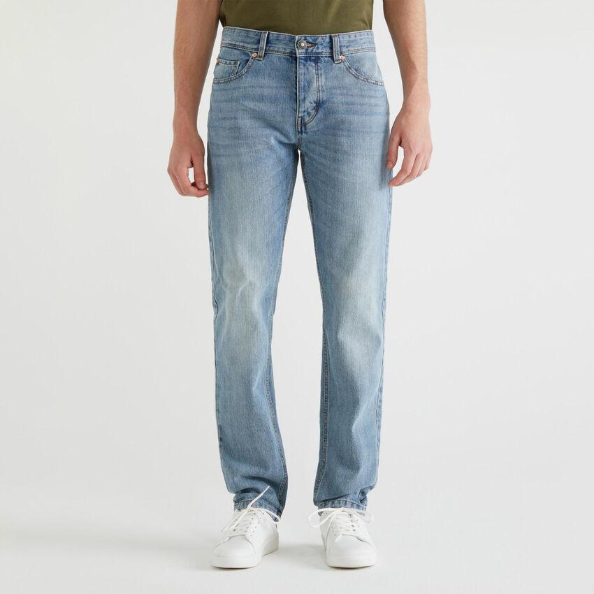 Jeans straight cinq poches