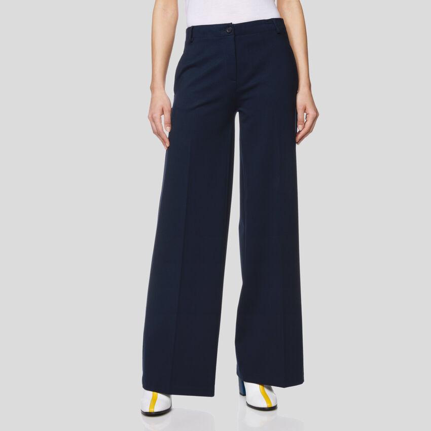 Pantalon stretch à taille haute