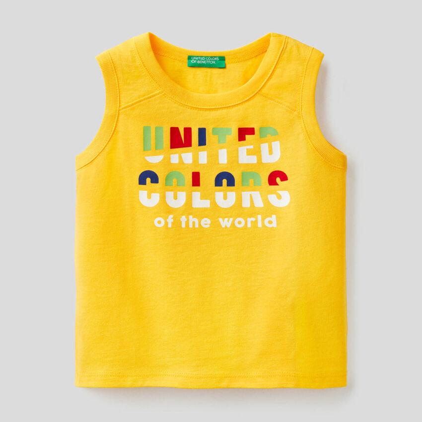 Débardeur jaune avec imprimé
