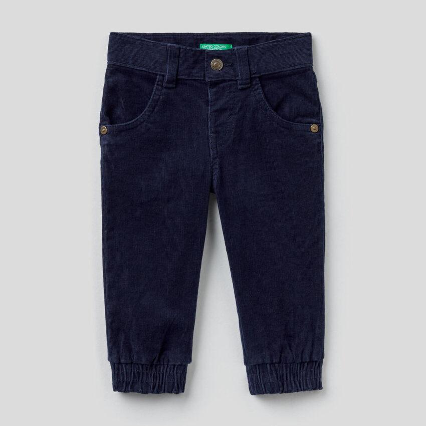 Pantalon en velours de coton stretch