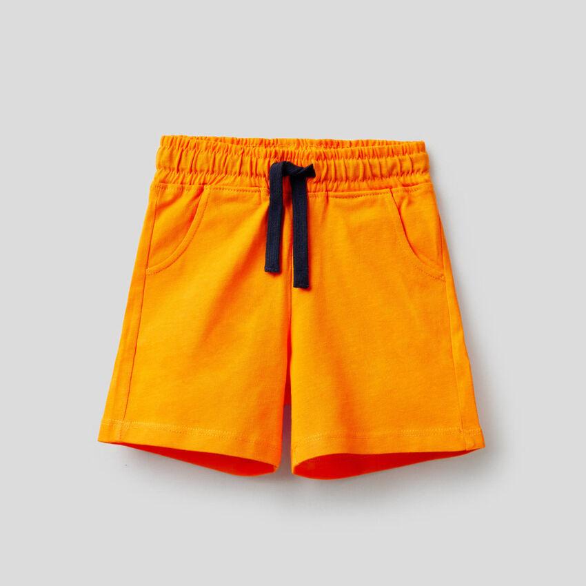 Short en pur coton