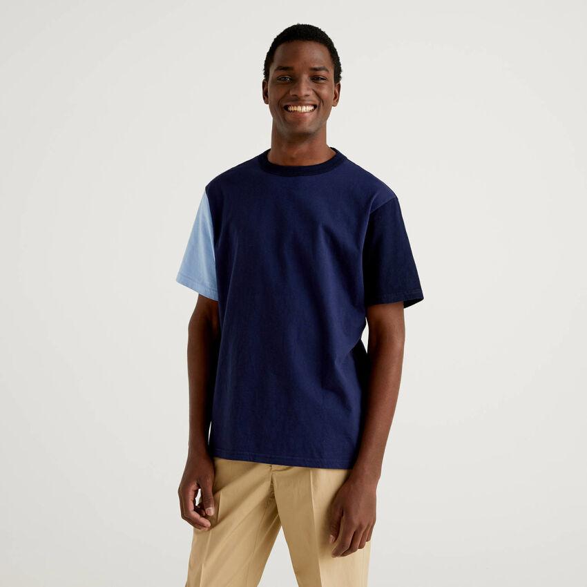 T-shirt color block à manches courtes