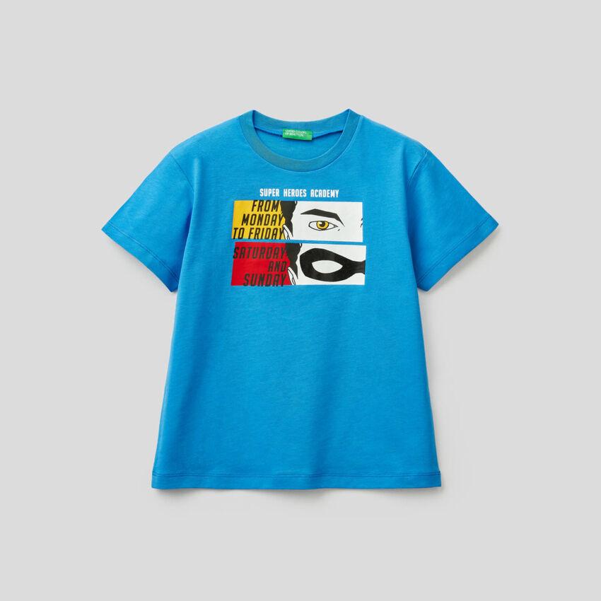 T-shirt 100% coton avec imprimé