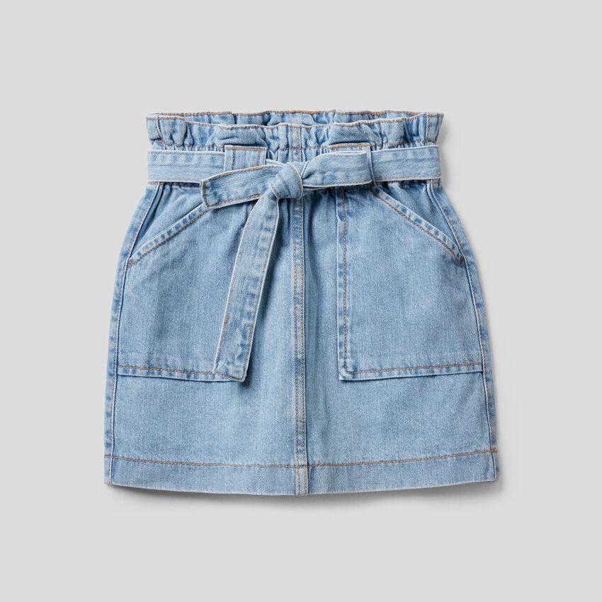 Jupe en jeans à taille haute