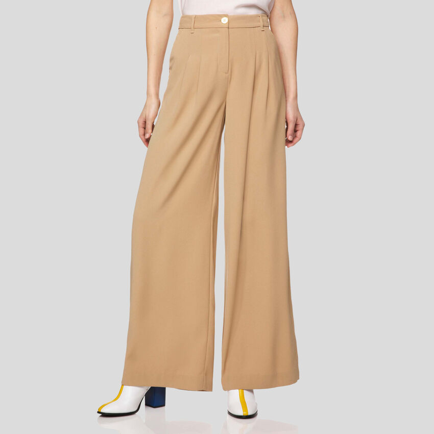 Pantalon ample en crêpe
