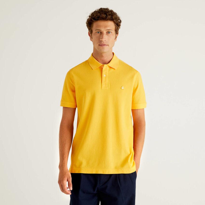 Polo jaune coupe regular