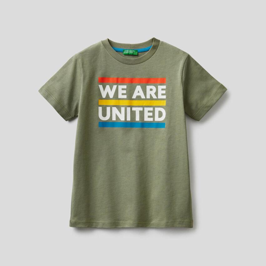 T-shirt en coton avec message