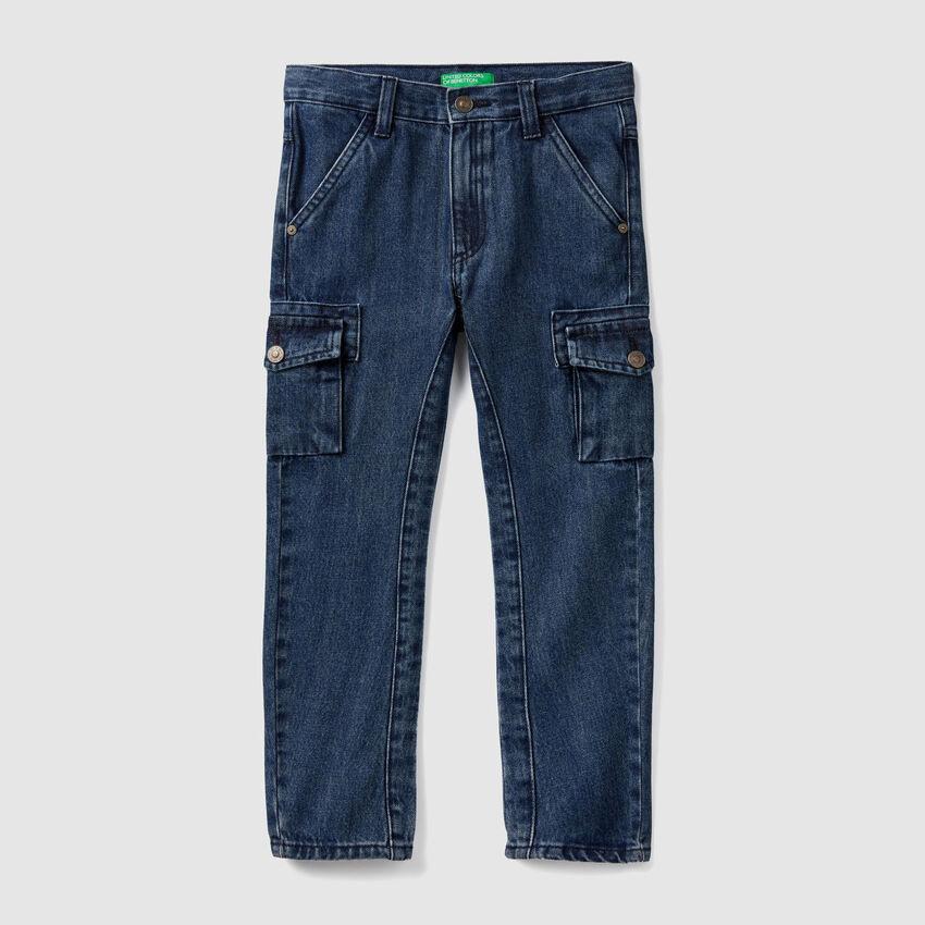 Pantalon cargo en denim