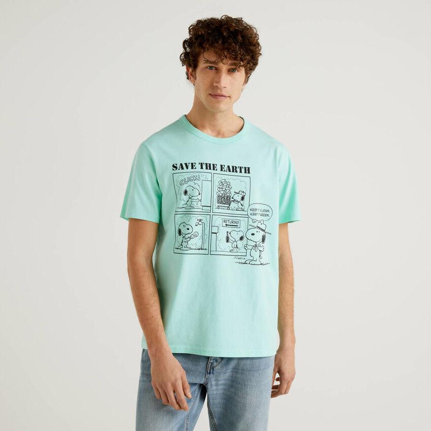 T-shirt Peanuts vert d'eau