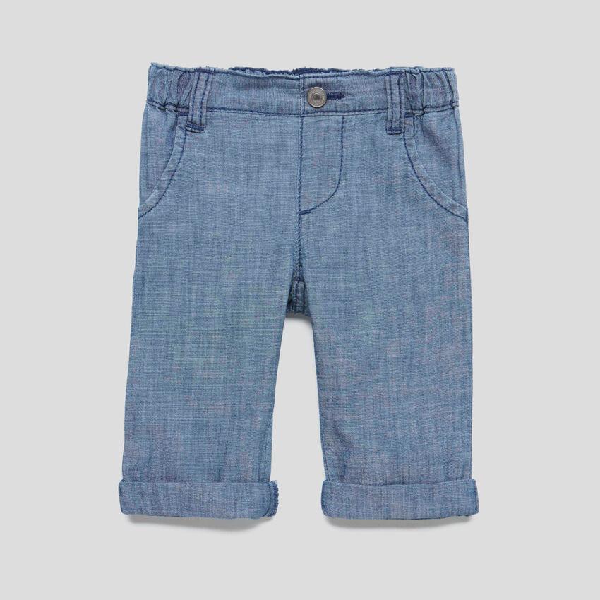 Pantalon en chambray
