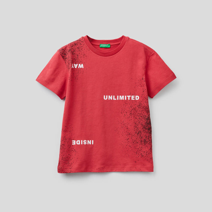 T-shirt avec imprimé effet spray
