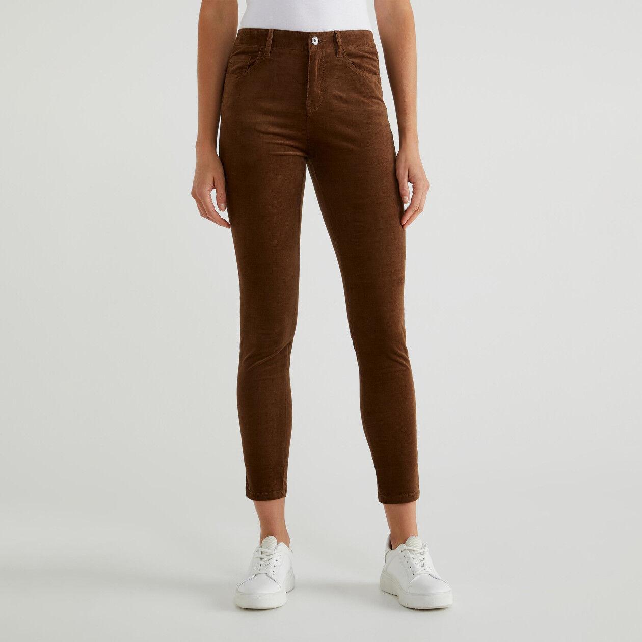 Pantalons cinq poches en velours