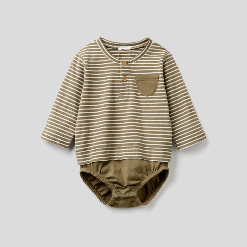 Body effet t-shirt en coton bio
