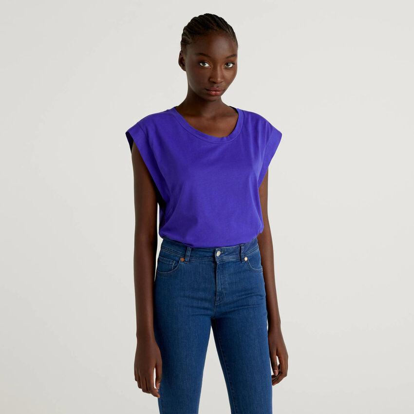 T-shirt en coton avec mancherons