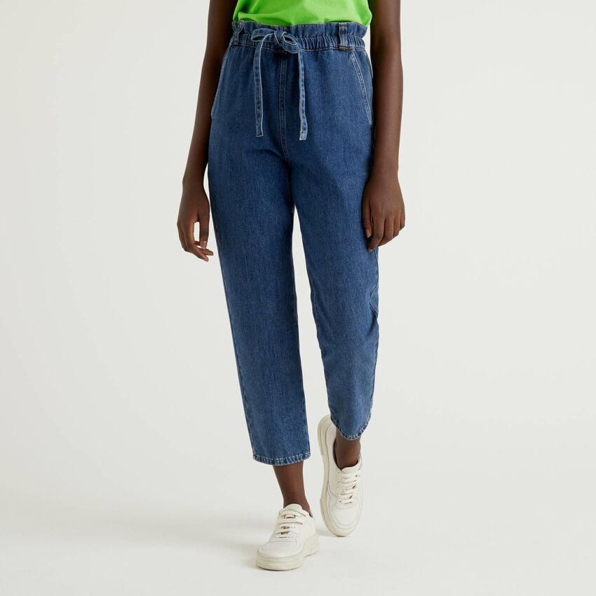 Pantalon en denim de 100% coton