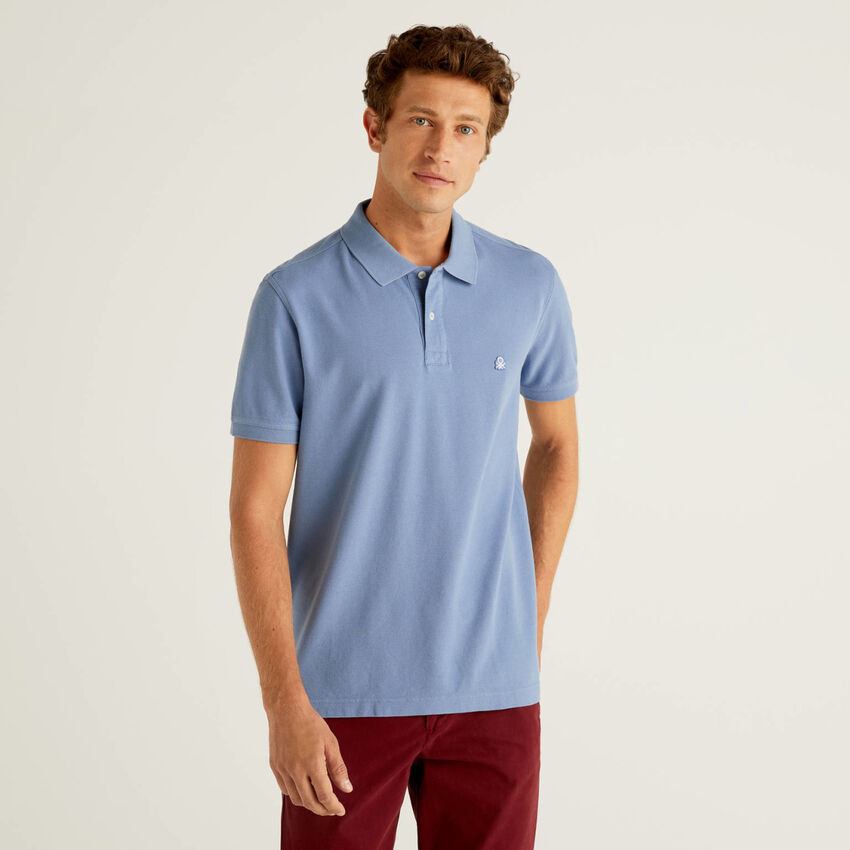 Polo bleu horizon coupe regular
