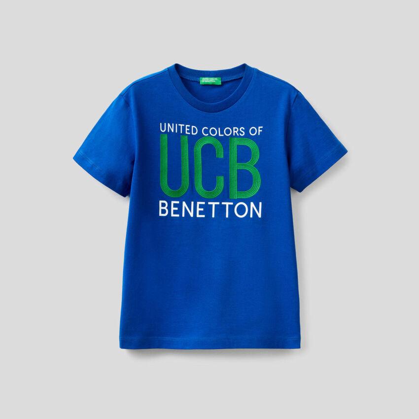 T-shirt 100% coton à logo brodé