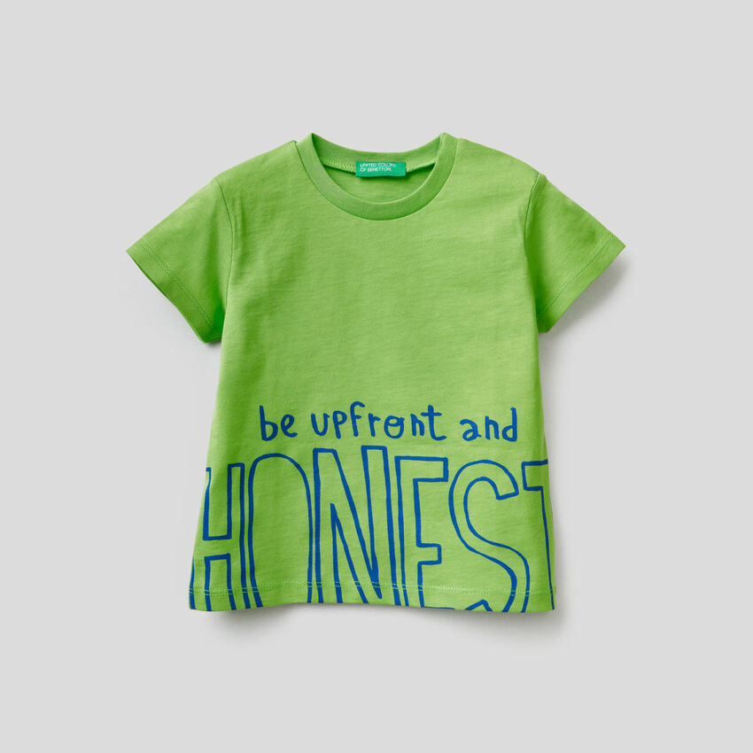 T-shirt en coton avec slogan