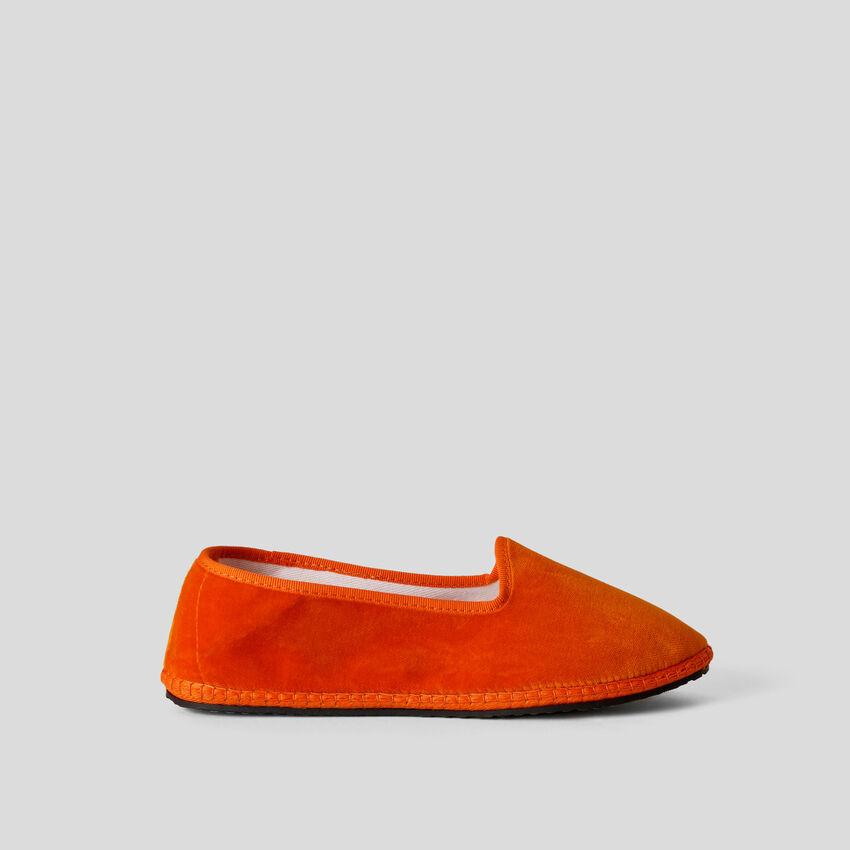 Friulanes orange en velours