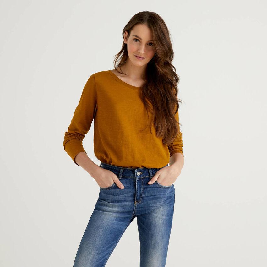 T-shirt manches longues en pur coton
