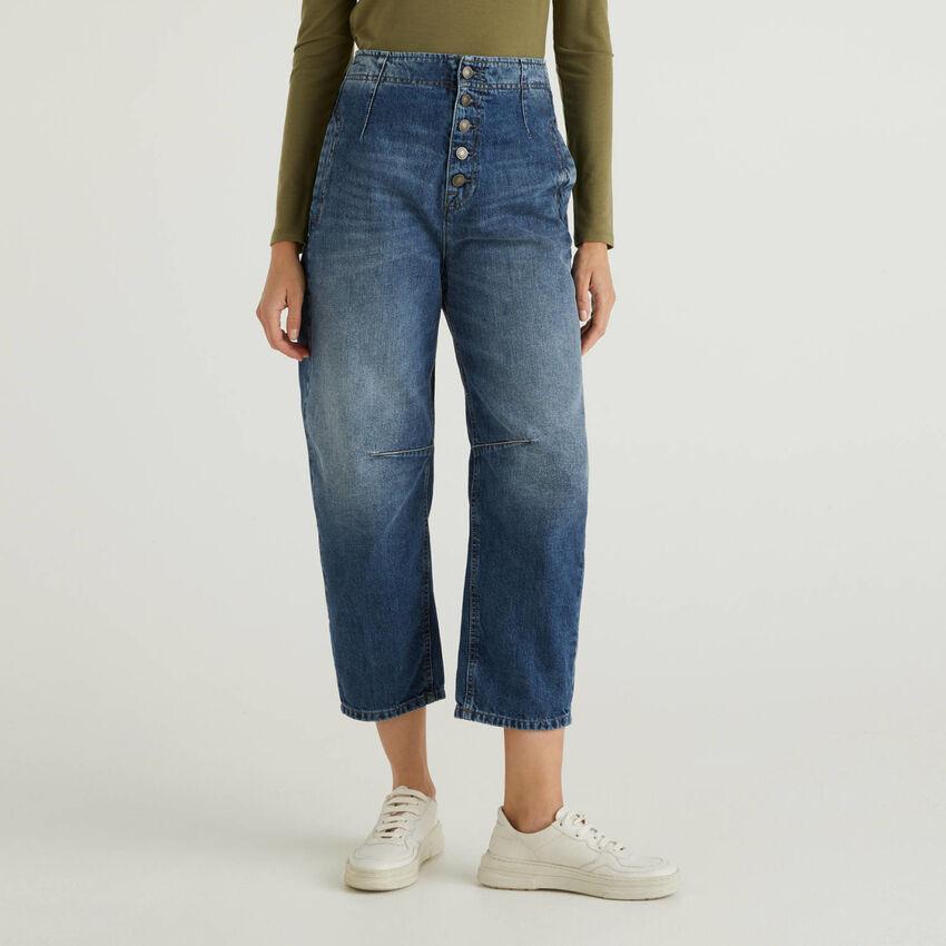Jeans slouchy en 100% coton