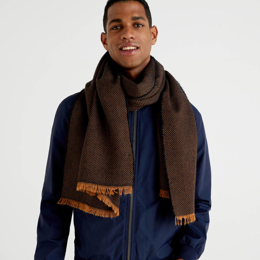 Écharpe en laine et alpaga mélangés