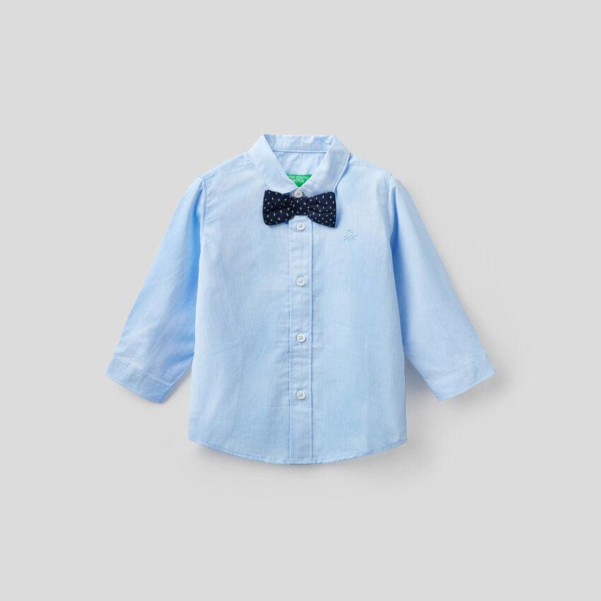 Chemise en coton avec noeud papillon