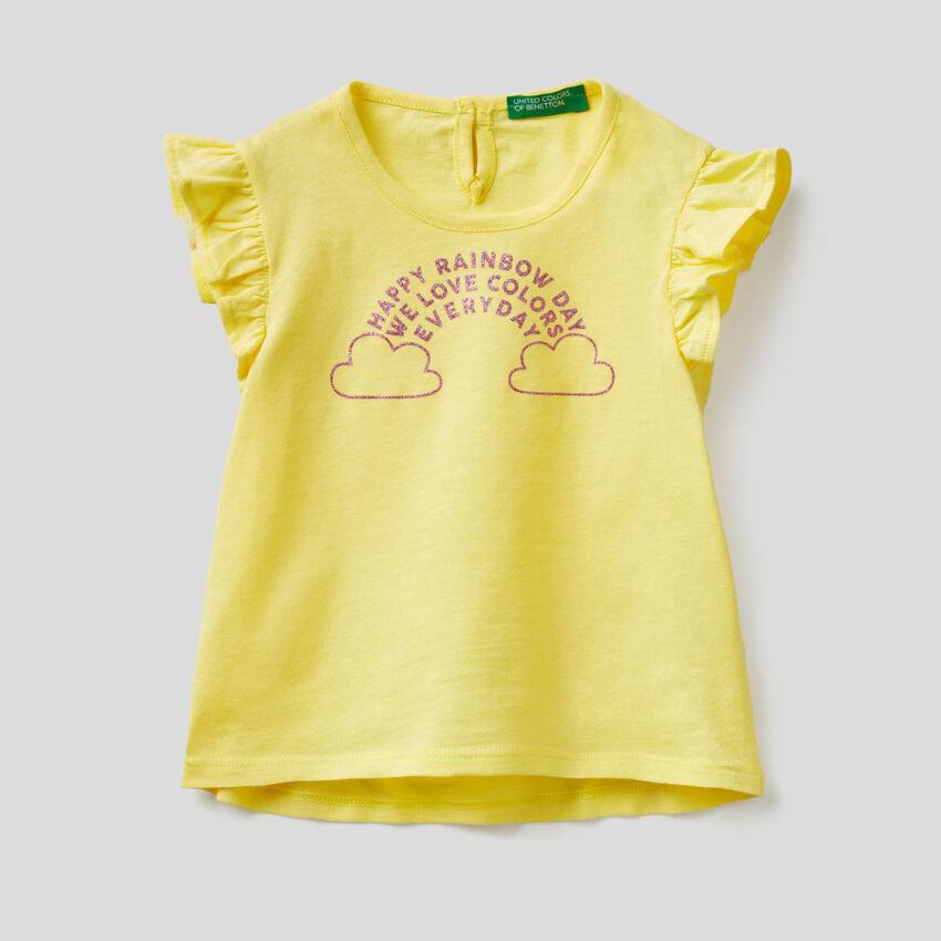 T-shirt avec mancherons