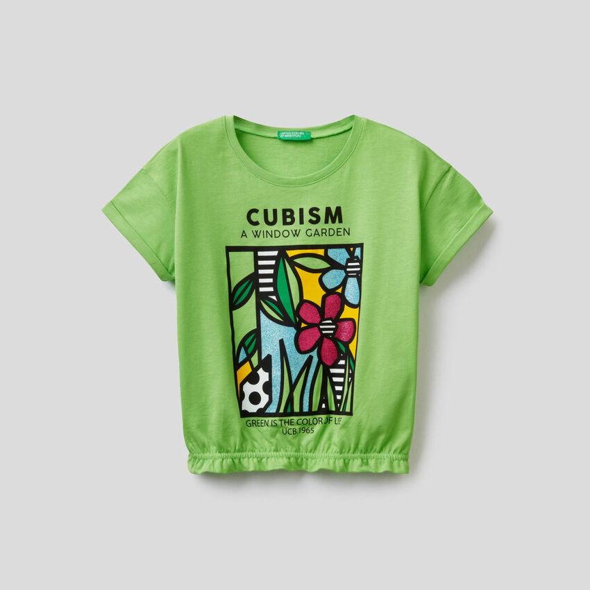 T-shirt imprimé avec bas stretch