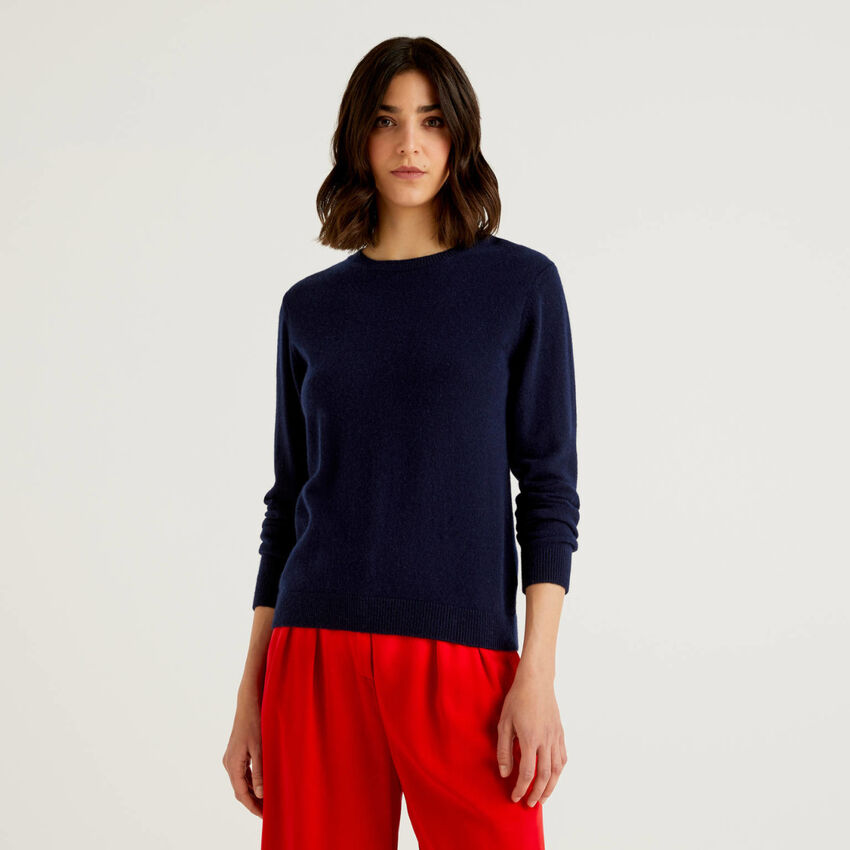 Pull col rond en pur cachemire