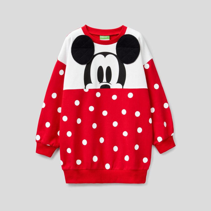 Sweat ample Mickey à pois