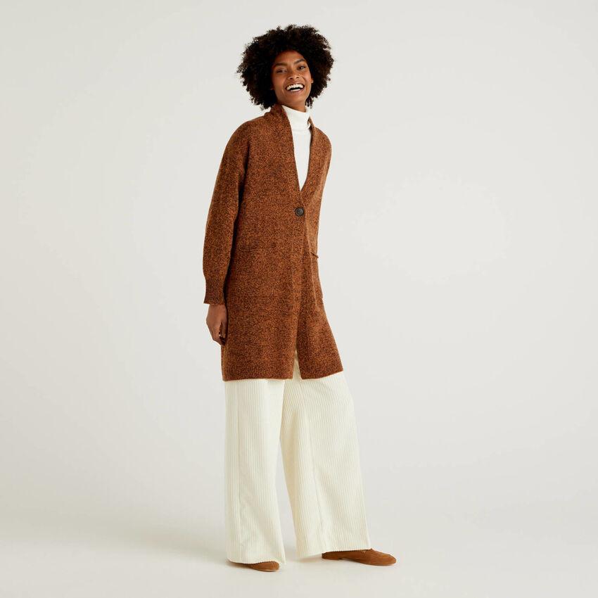 Manteau en pure laine Shetland