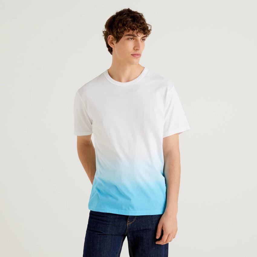 T-shirt 100% coton effet dégradé