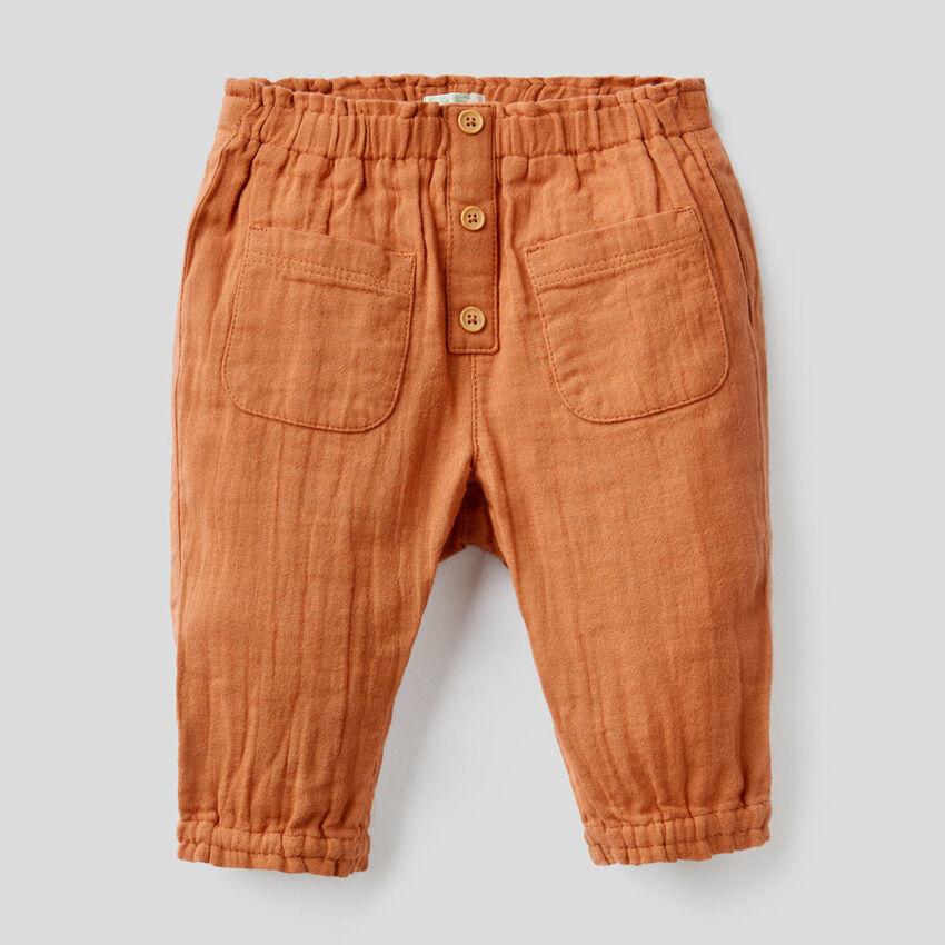 Pantalon avec taille et bas froncé