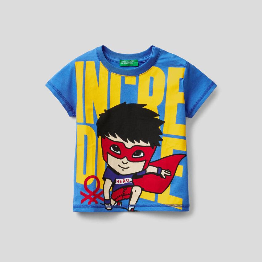 T-shirt 100% coton avec imprimé super-héros