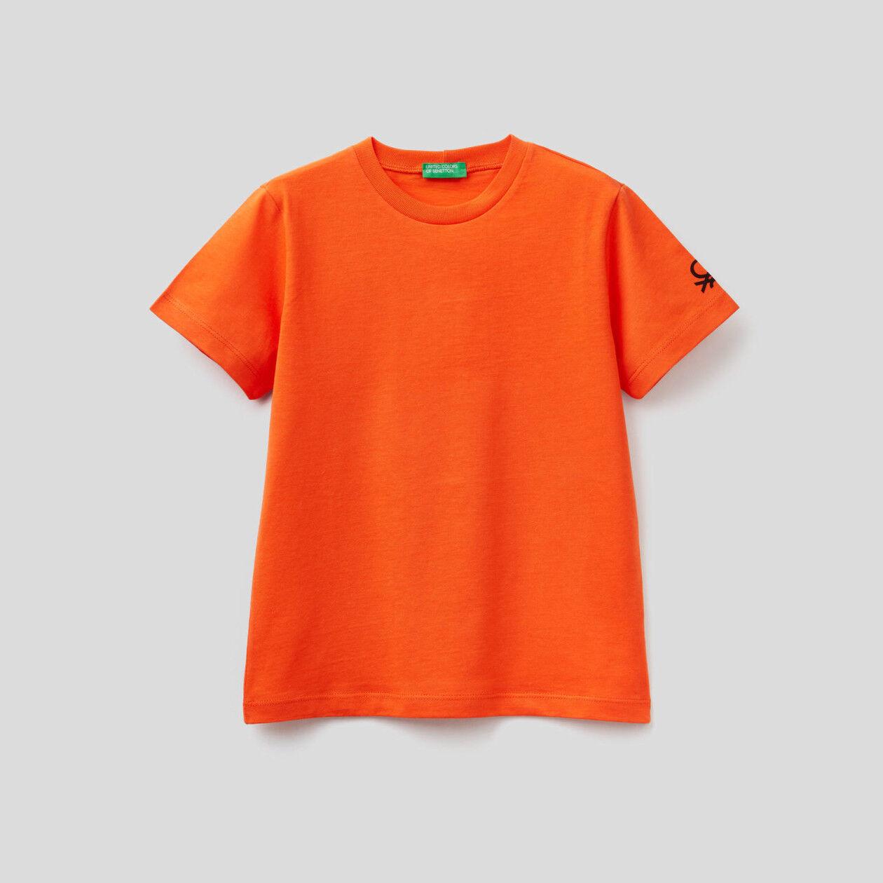 T-shirt en coton bio avec logo imprimé