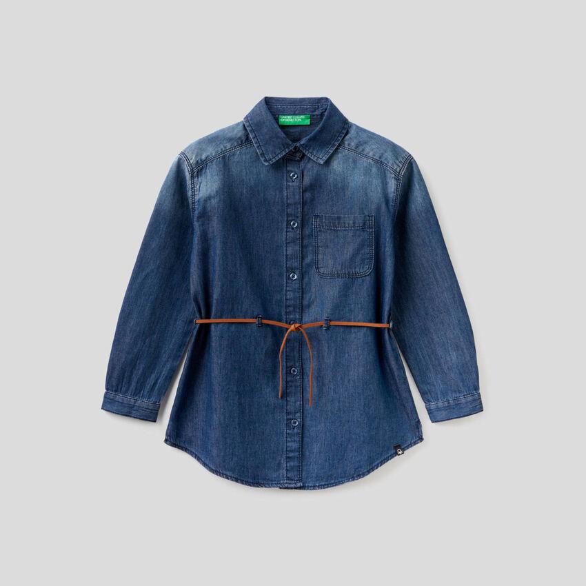 Chemise en jeans 100% coton