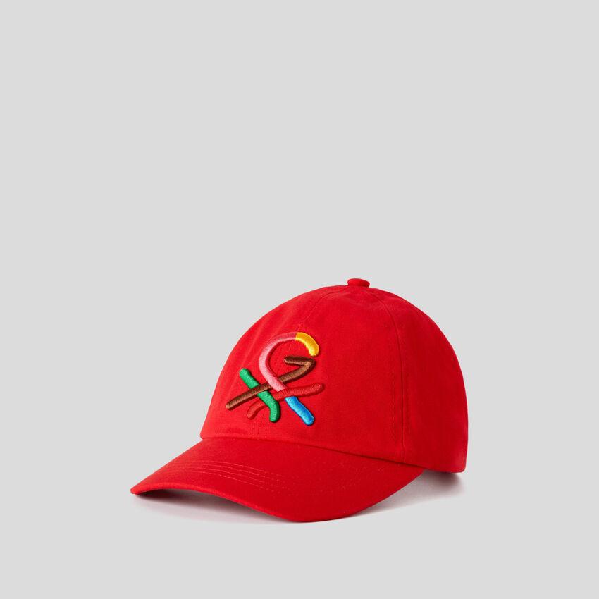 Casquette rouge à logo brodé by Ghali