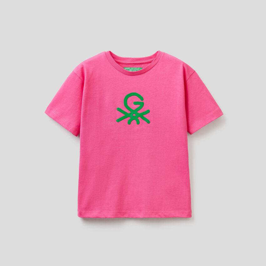 T-shirt unisexe fuchsia avec imprimé by Ghali