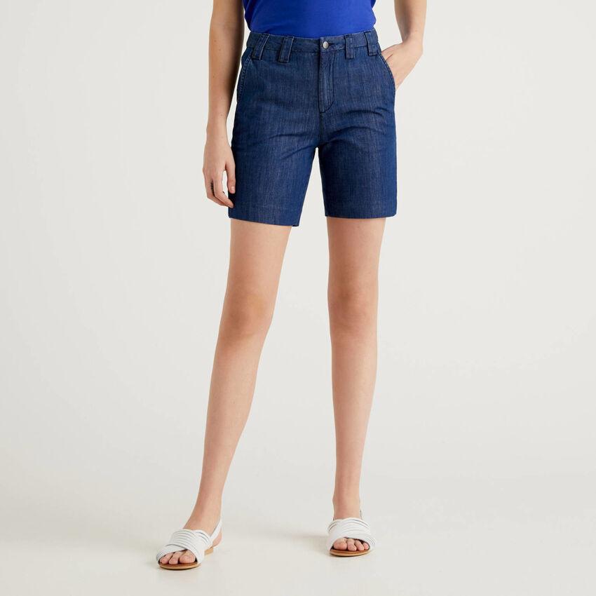 Short en jeans léger