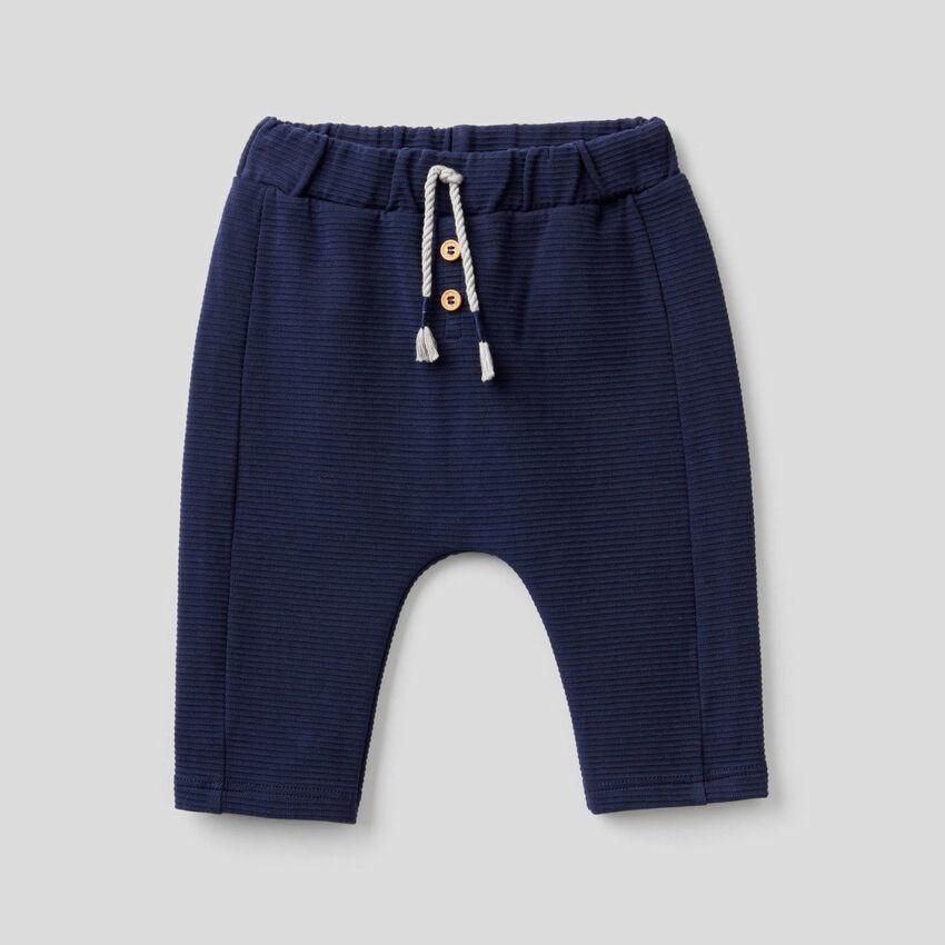 Pantalon en coton bio stretch