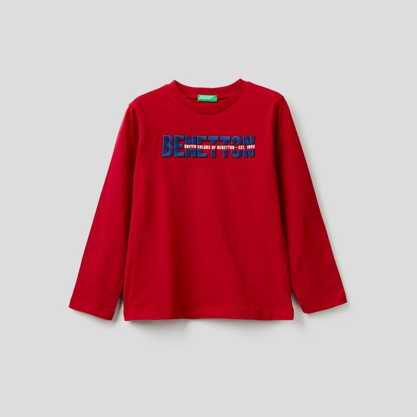 T-shirt 100% coton bio à manches longues